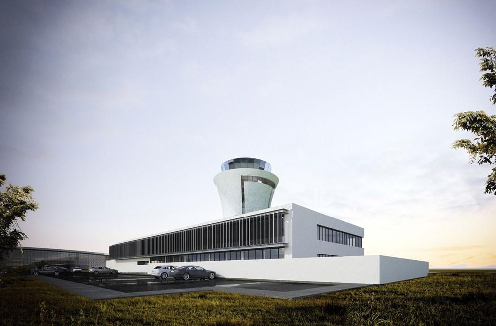 Rize-Artvin Havalimanı'nın yüzde 68'i tamamlandı (Kulesi 'çay bardağı' olacak) - 4