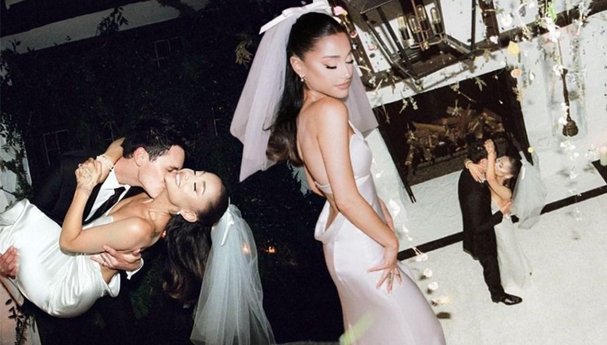 Ariana Grande sır düğününden fotoğrafları paylaştı