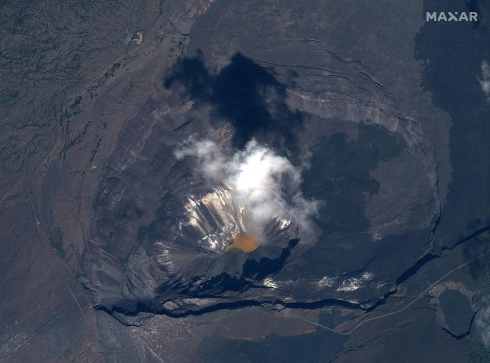 Kilauea Yanardağı'nda patlamaları: Krater gölü buharlaştı - 10