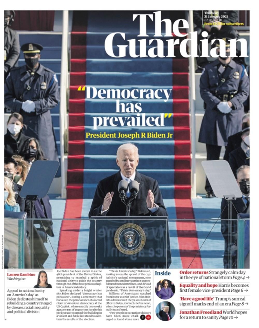 Dünya manşetlerinde Joe Biden: ABD'nin kurtuluşu - 1