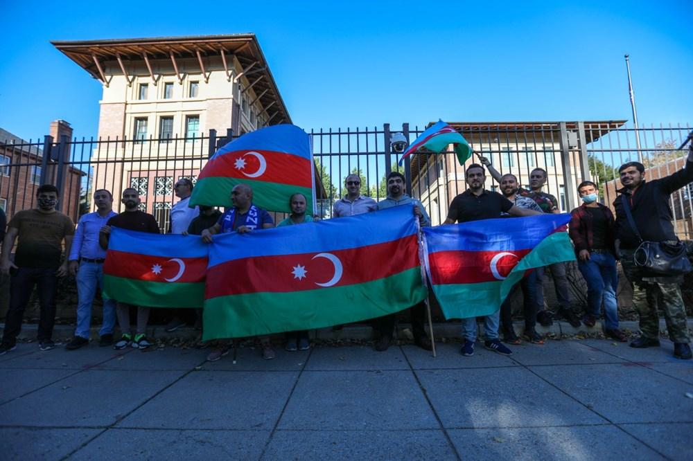 Beyaz Saray önünde Azerbaycan'a destek mitingi düzenlendi - 21