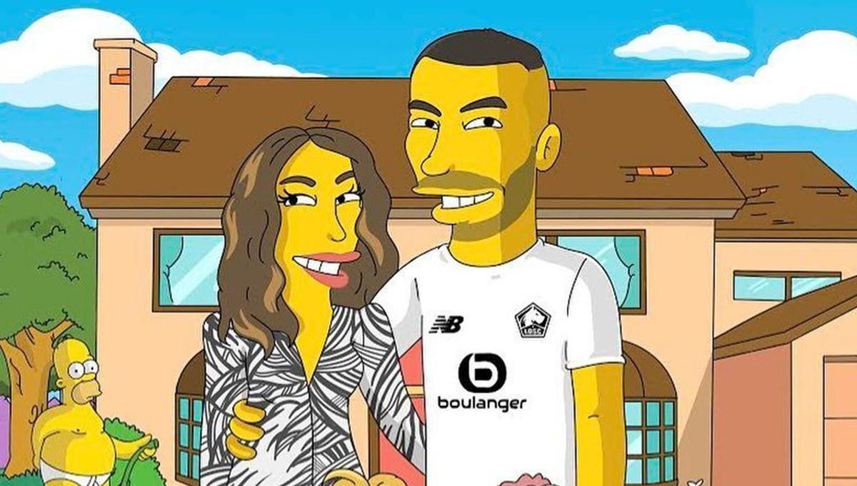 Burak Yılmaz'ın Simpsons karakteri (Stefano Monda'nın yıldız futbolculara özel çizimleri)