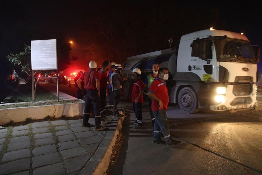 Milas'ta yangın bölgesindeki vatandaşlar tahliye ediliyor - 9