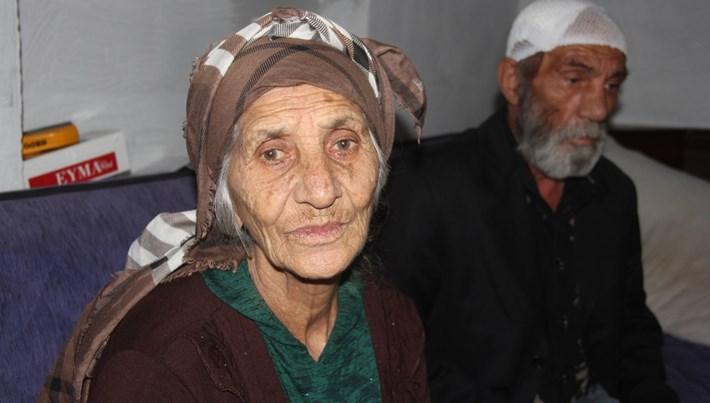 80 yaşındaki kadın eşini bıçakladı