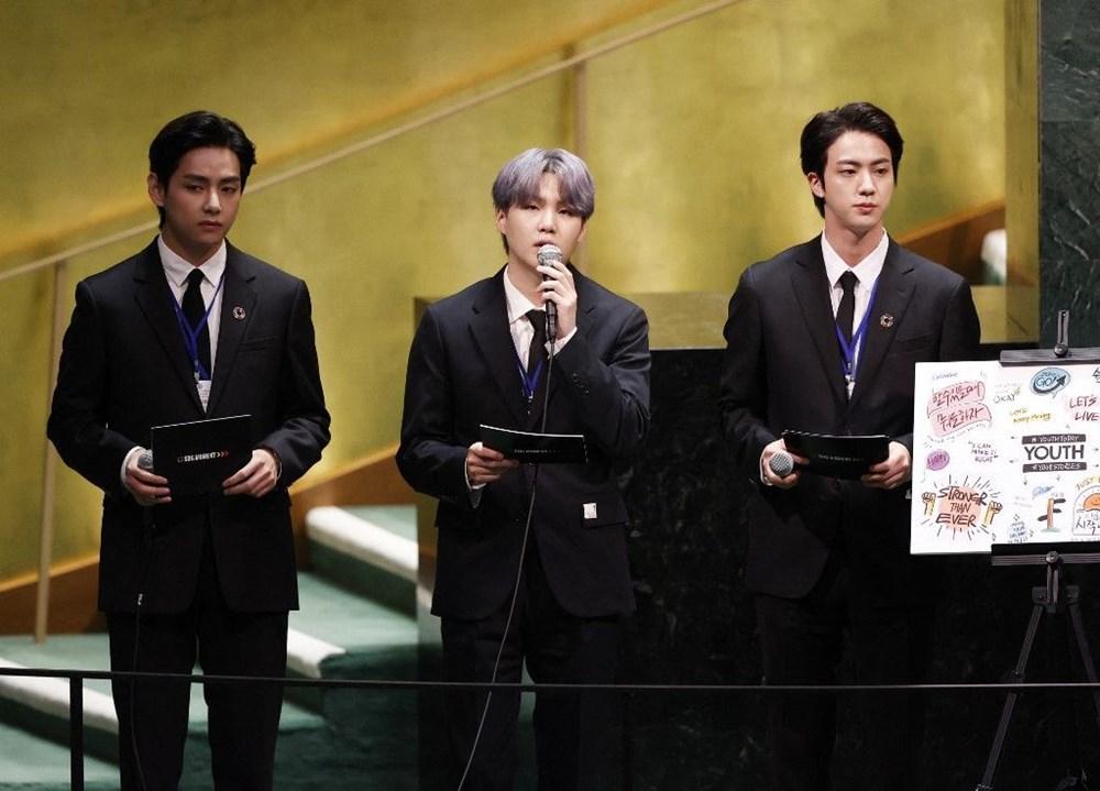 BTS grubu Birleşmiş Milletler Genel Kurulu'nda konuştu - 2