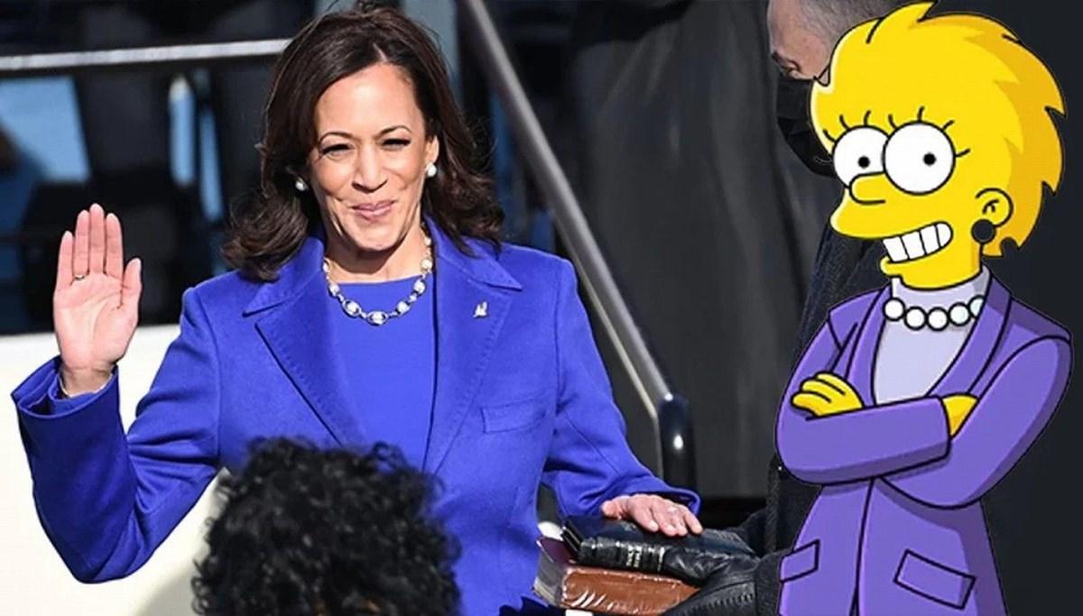Simpsonlar'ın (The Simpsons) kehaneti yine tuttu: Biden ve Harris'in yemin törenini 20 yıl önceden bildiler