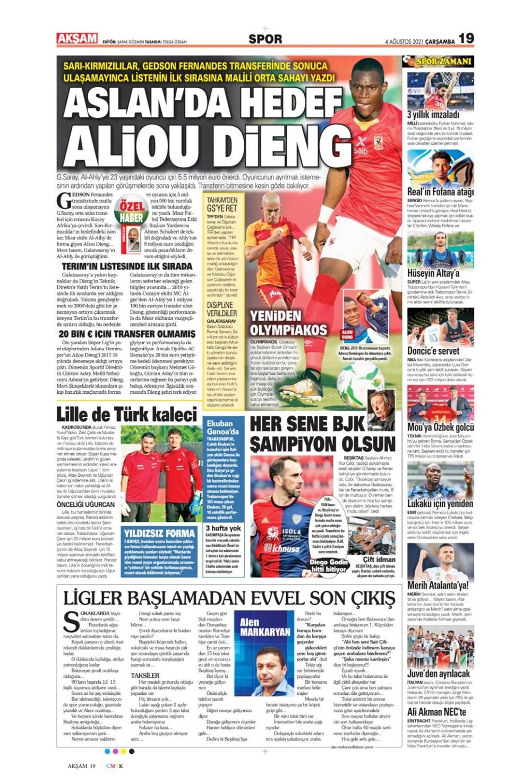 Günün spor manşetleri (4 Ağustos 2021) - 3