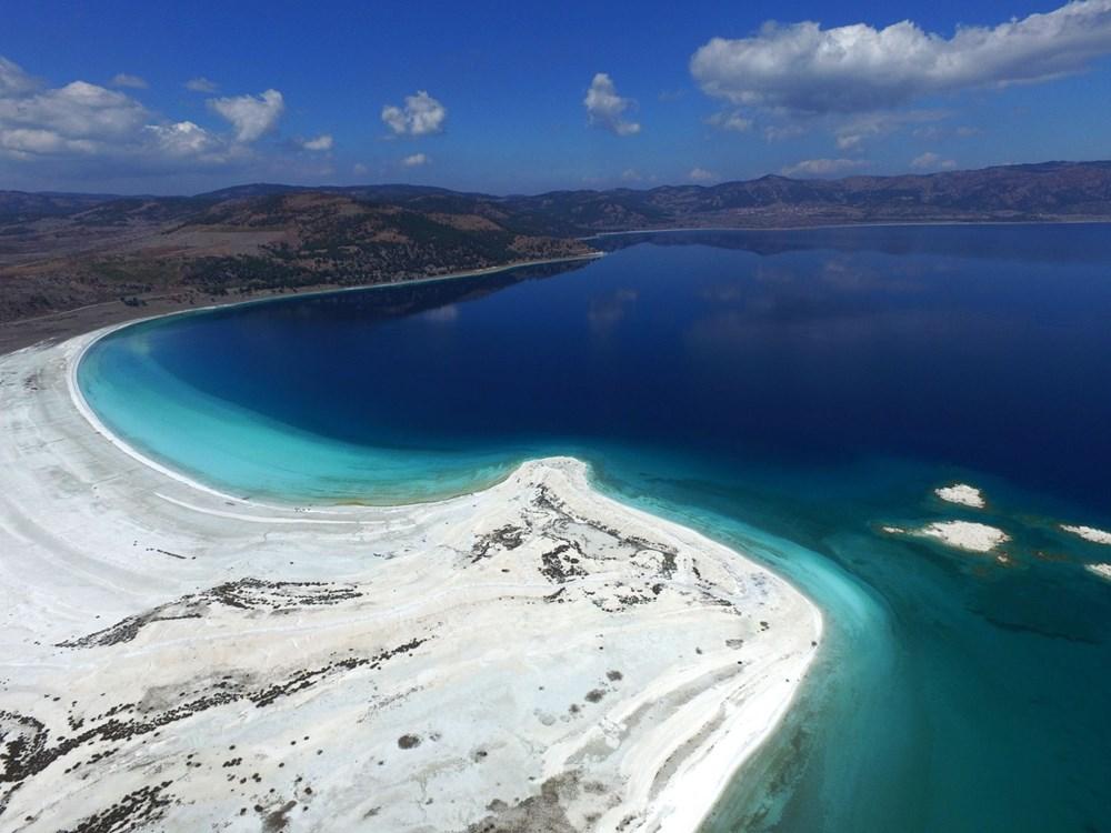 Bakan açıkladı: Salda Gölü'nün 'Beyaz Adalar' bölgesinde göle ve plaja giriş yasaklandı - 3