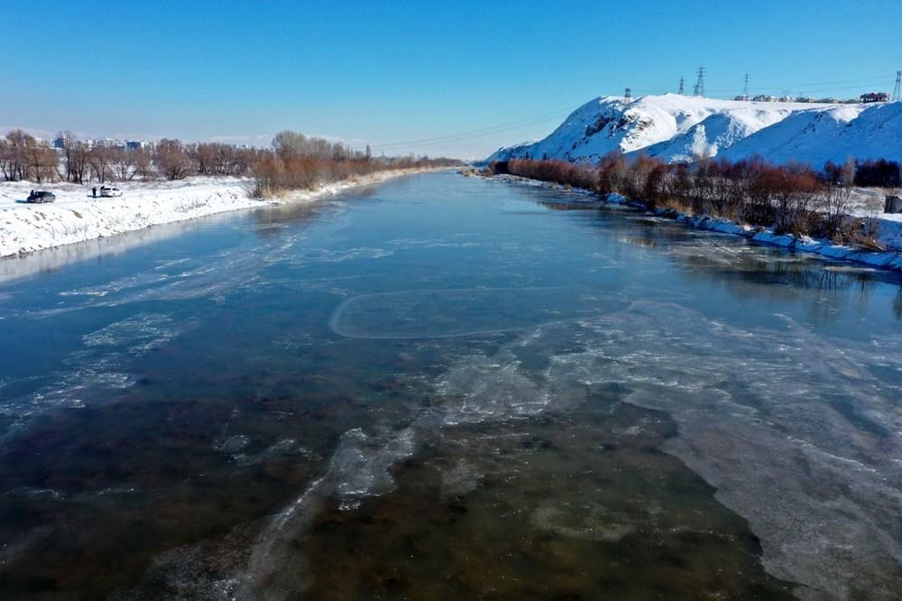 Türkiye'nin en soğuk yeri Sivas Altınyayla oldu, Kızılırmak kısmen buz tuttu - 10
