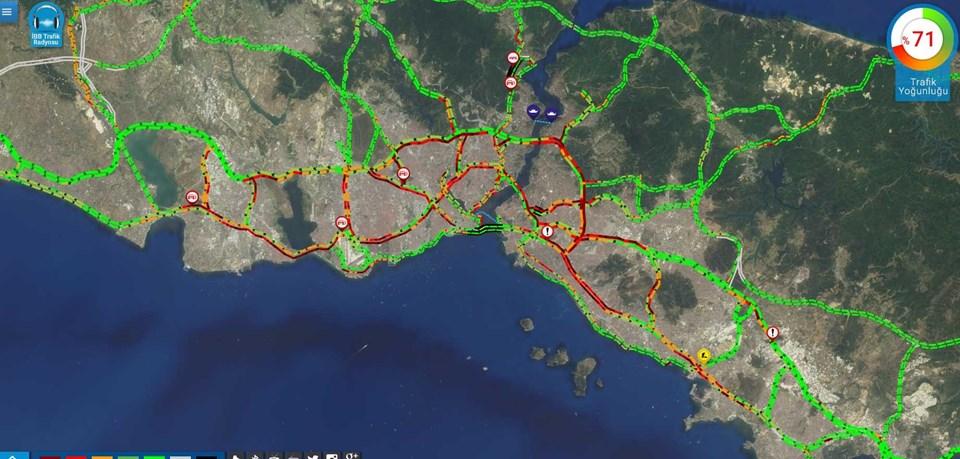 08.44 itibarıyla İstanbul'un trafiği...