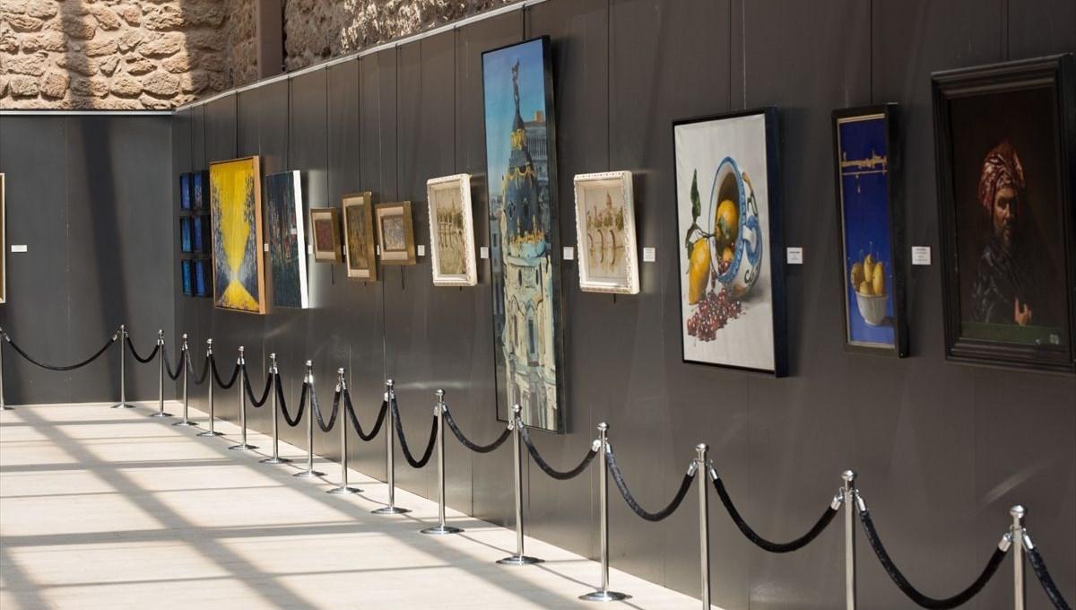 İtalyan ressamların tabloları İshak Paşa Sarayı'nda sergileniyor