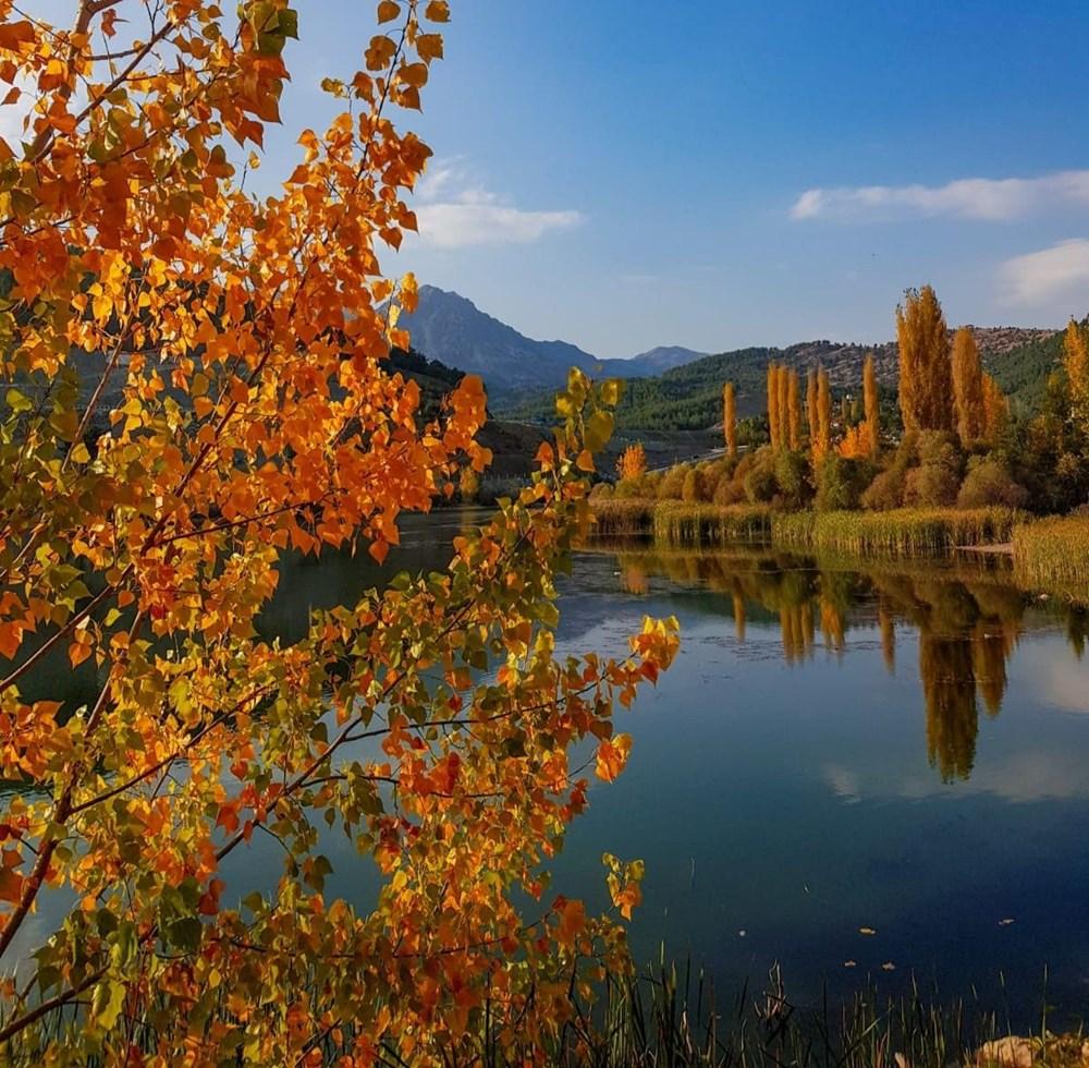 Kahramanmaraş'ta doğa harikası Döngel Şelalesi sonbaharda büyülüyor - 5