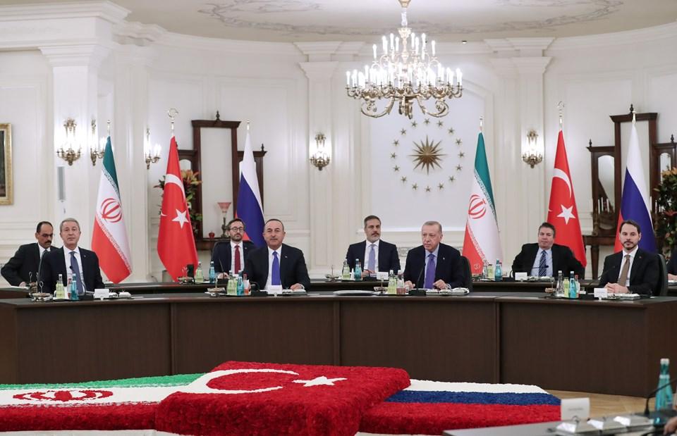Üçlü Suriye Zirvesi'ne katılan Türkiye heyeti