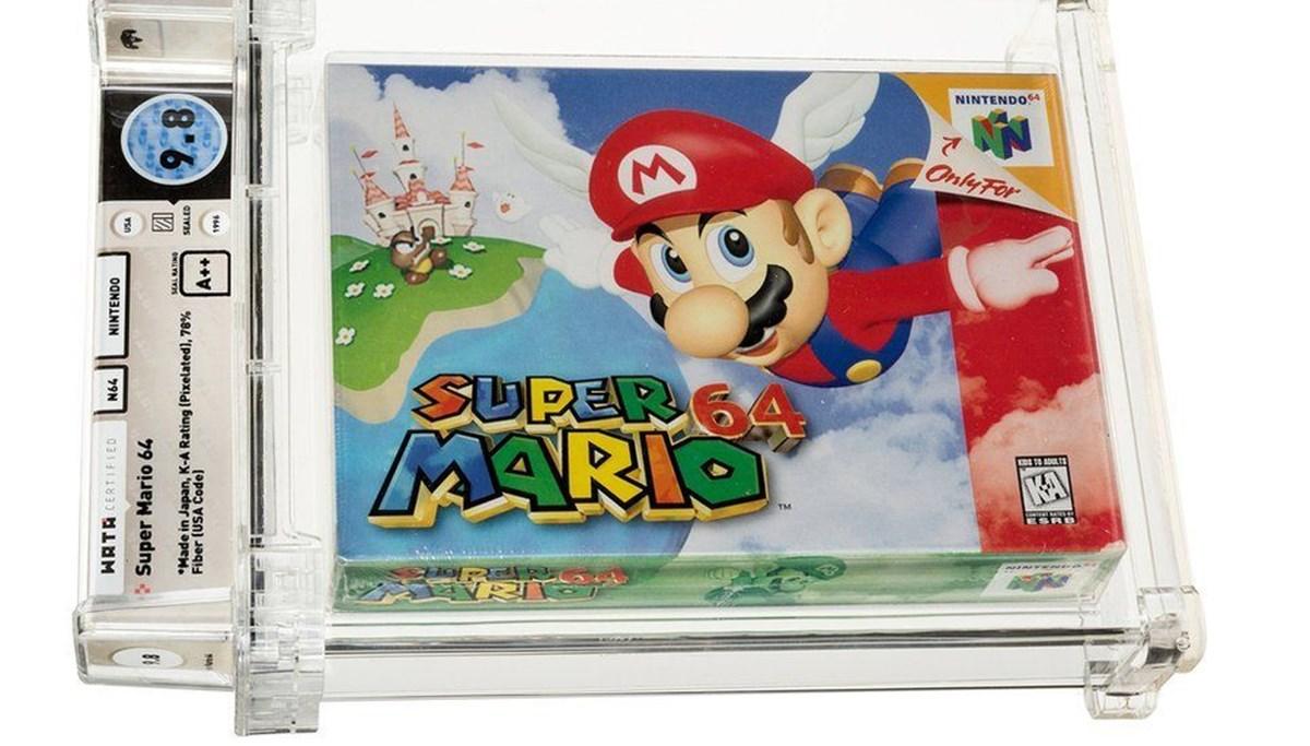Super Mario 64 rekor kırdı: 1996'da çıkan oyun 1,56 milyon dolara satıldı