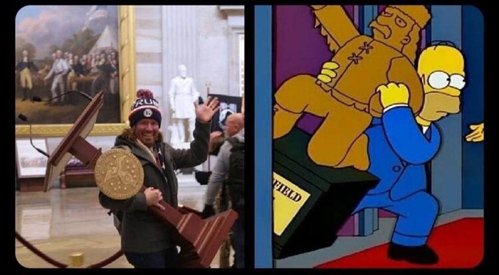 Simpsonlar'ın (The Simpsons) kehaneti yine tuttu: ABD'de Kongre Binası işgali - 2