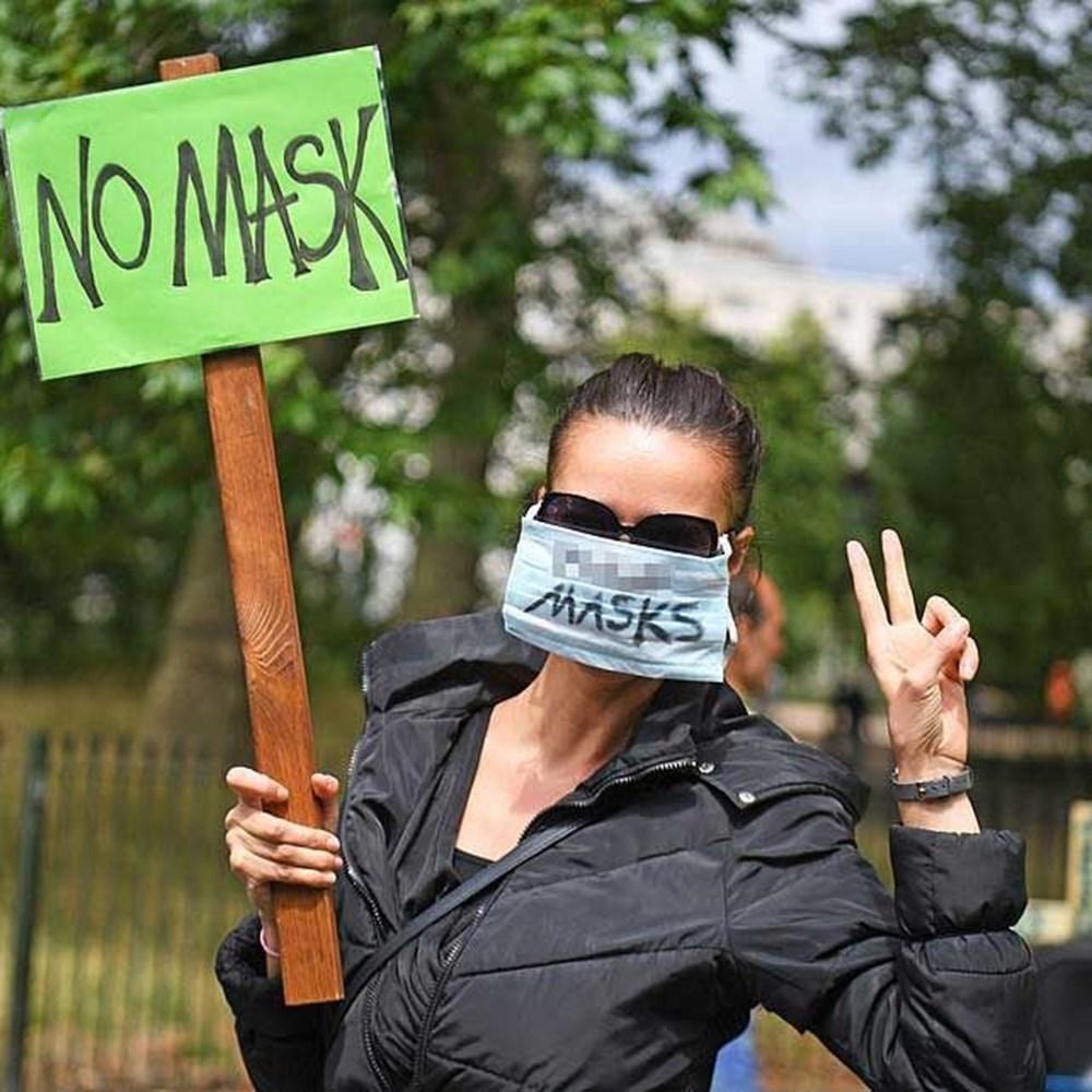 Maske karşıtı yüzlerce kişiden protesto - 2