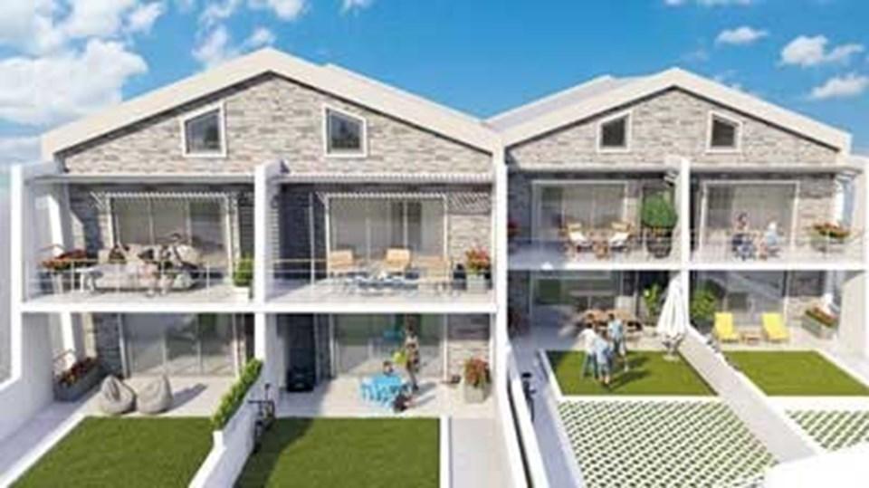 Projede 2+1 loft ve 2+1 bahçeli seçenekler var.