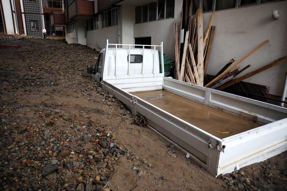 Rize'de sel ve heyelan afetinin hasarı gün ağarınca ortaya çıktı - 6