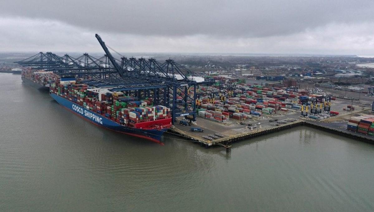 İngiltere'de nakliye krizi: En büyük ticari limanda konteynerler birikiyor