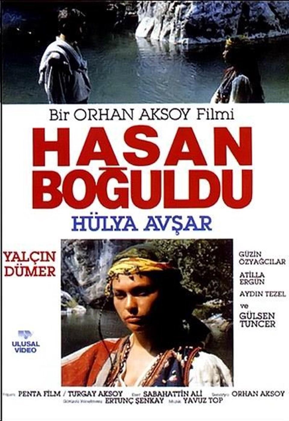 """1990 yapımı, Orhan Aksoy imzalı """"Hasan Boğuldu""""da Hülya Avşar ve Yalçın Dümer başrolü paylaştı."""