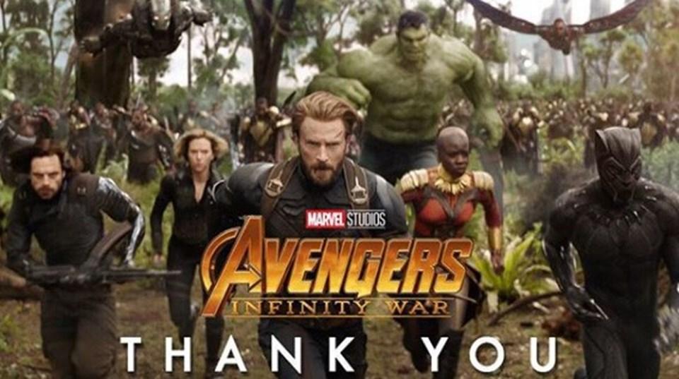 Marvel rekor haberini takipçilerine teşekkür ederek duyurdu.