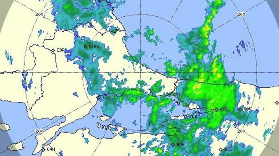 Yağışlar İstanbul'un Anadolu Yakası'nda etkili oluyor.