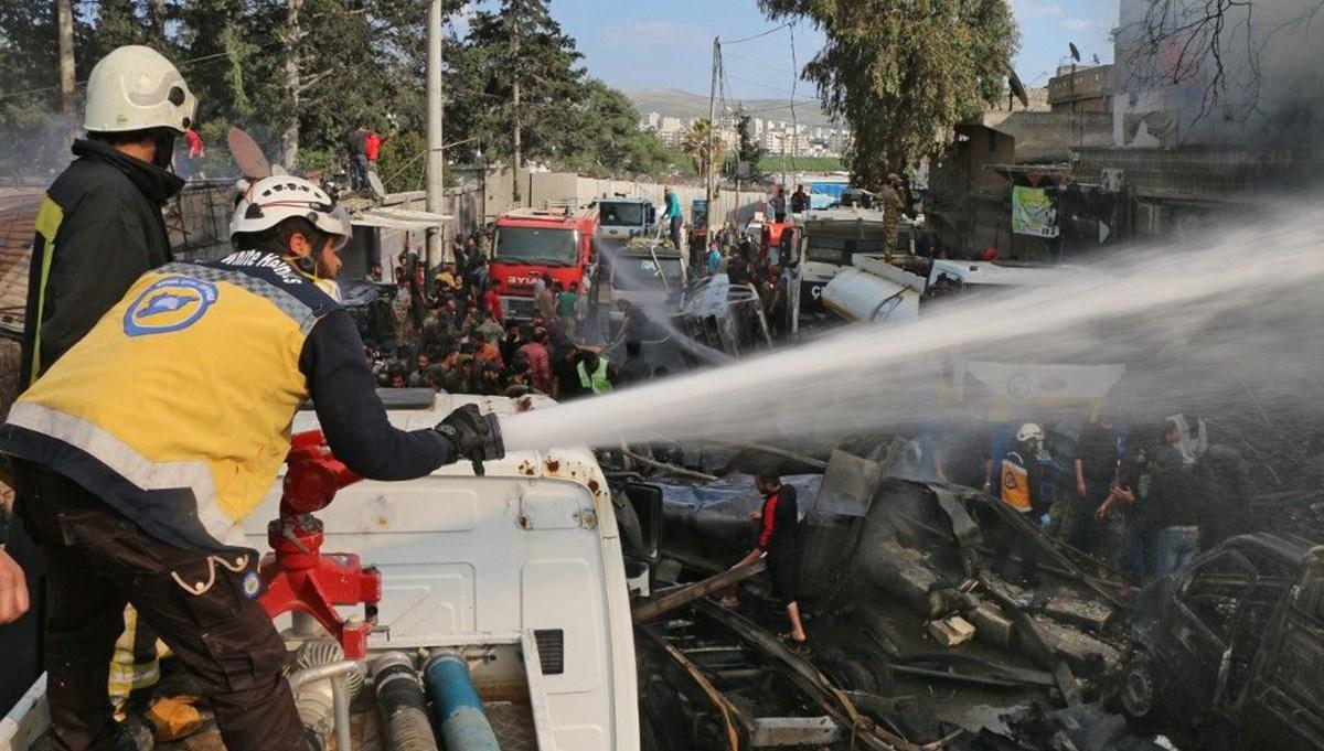 Suriye'de doğalgaz hattında patlama