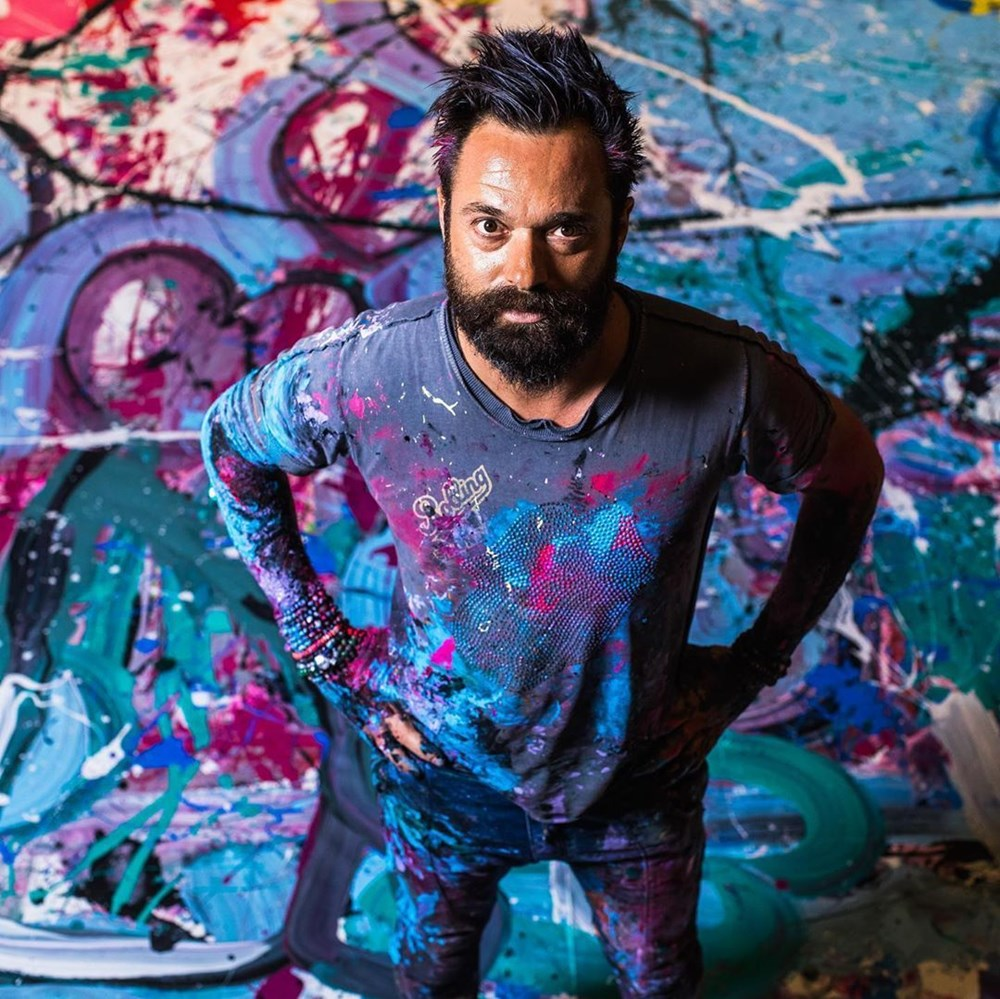 Ressam Sacha Jafri rekora koşuyor - 4