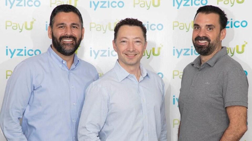 Barbaros Özbuğutu (solda), PayU GPO CEO Mario Shiliashki (ortada) ve Tahsin Işın (sağda)