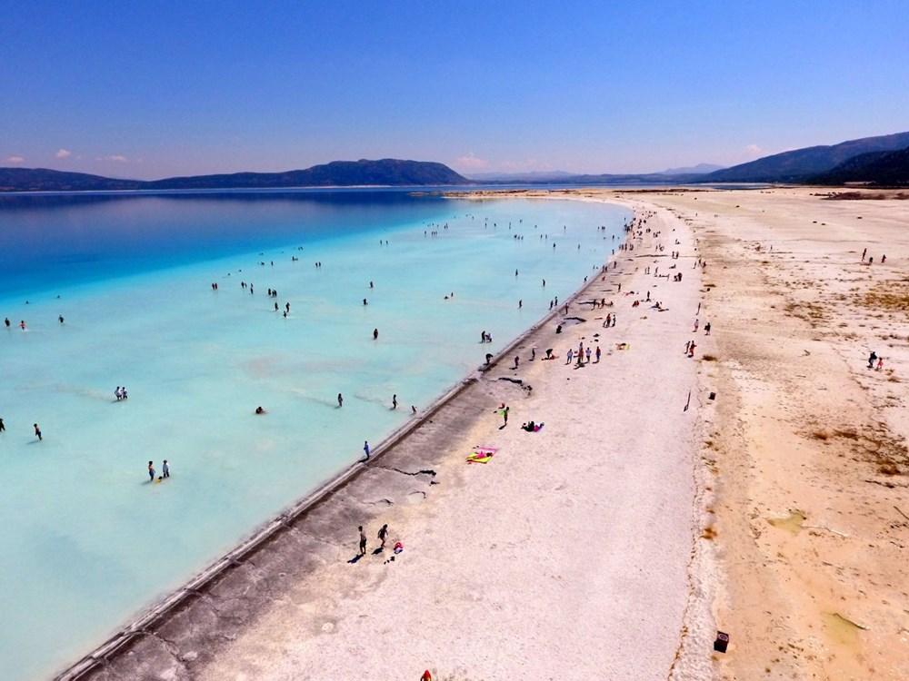 Bakan açıkladı: Salda Gölü'nün 'Beyaz Adalar' bölgesinde göle ve plaja giriş yasaklandı - 10