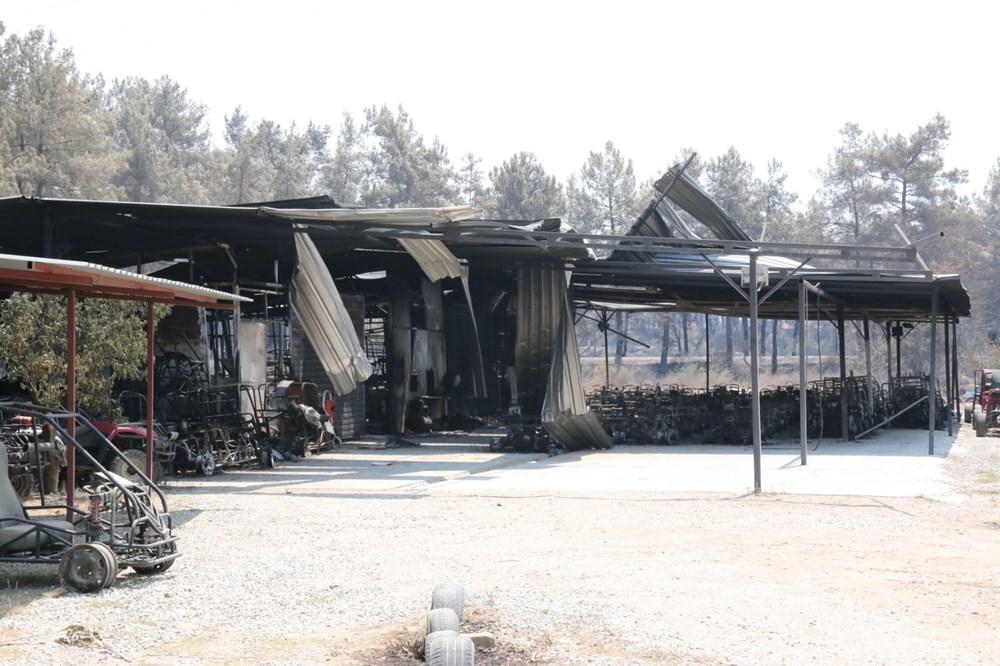 Manavgat'ta safari tesisi küle döndü, alevlerin arasında kalan işletme sahibi ölümden döndü - 4