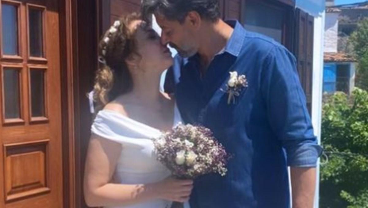 Dizi aşkı gerçek oldu: Deniz Uğur ile Erdinç Gülener evlendi