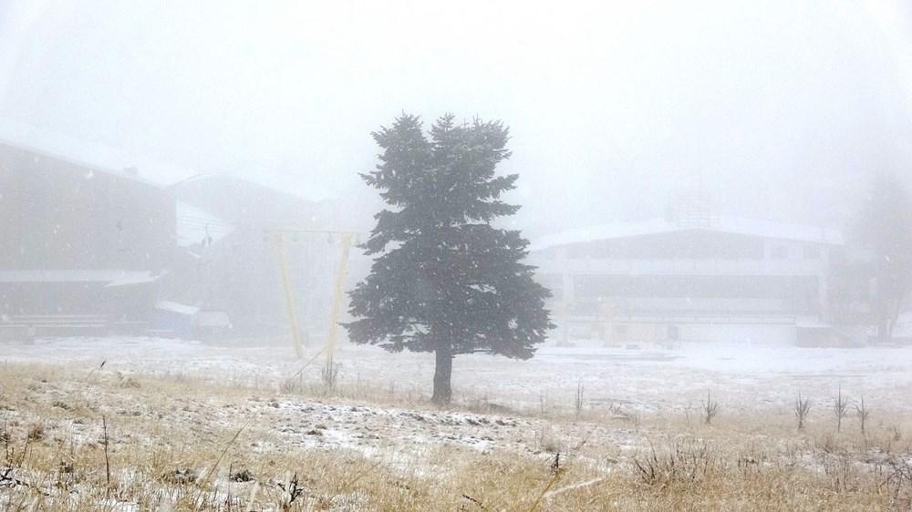 Uludağ'da kar yağışı tatilcileri sevindirdi - 8