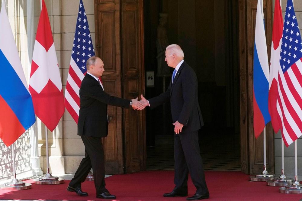 ABD Başkanı Biden ve Rus Devlet Başkanı Putin'in görüşmesi başladı: Zirveden kareler - 10
