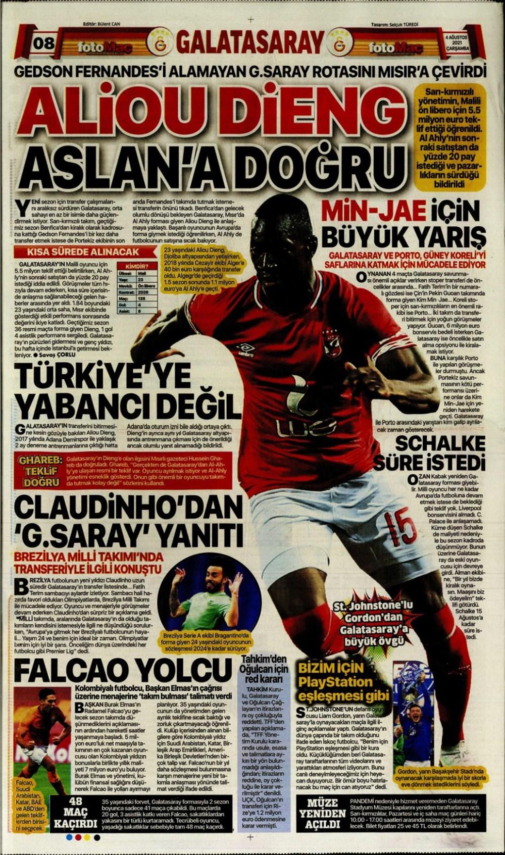 Günün spor manşetleri (4 Ağustos 2021) - 6