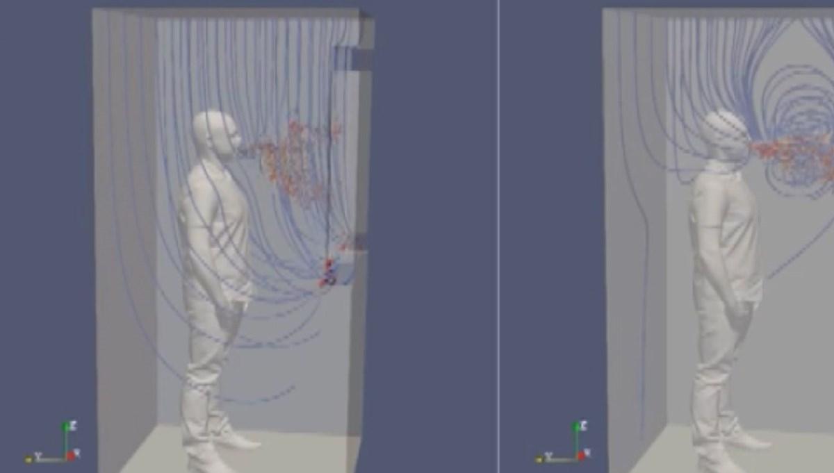 Asansördeki corona virüs tehlikesi simülasyonla gösterildi