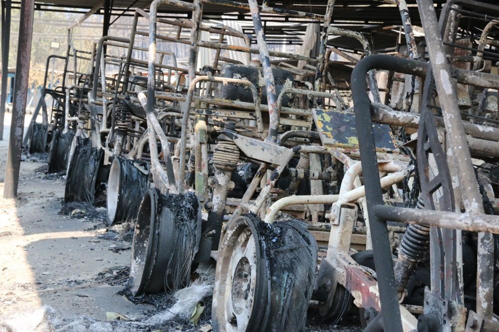 Manavgat'ta safari tesisi küle döndü, alevlerin arasında kalan işletme sahibi ölümden döndü - 7