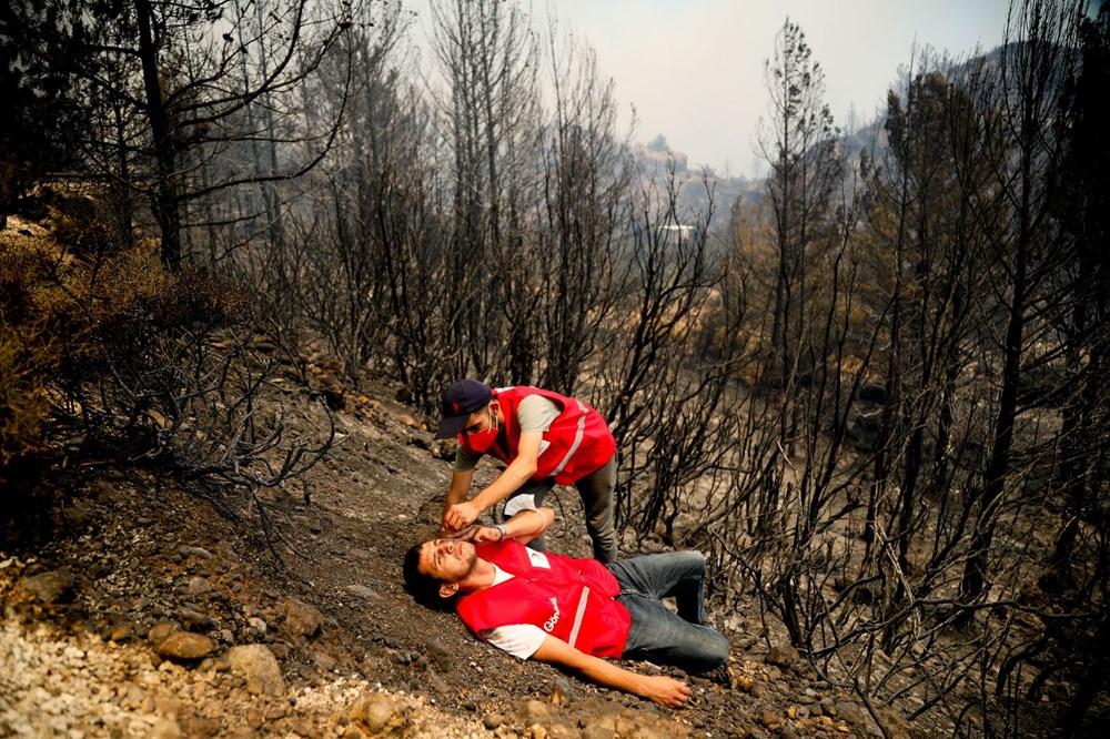 Orman yangınında gönüllülerin asılsız ihbar mesaisi - 5