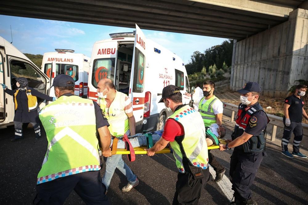 Kuzey Marmara Otoyolu'nda otobüs yoldan çıktı: 5 ölü, 25 yaralı - 13