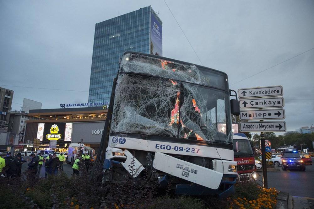 Ankara'da iki otobüs çarpıştı: 17 yaralı - 1