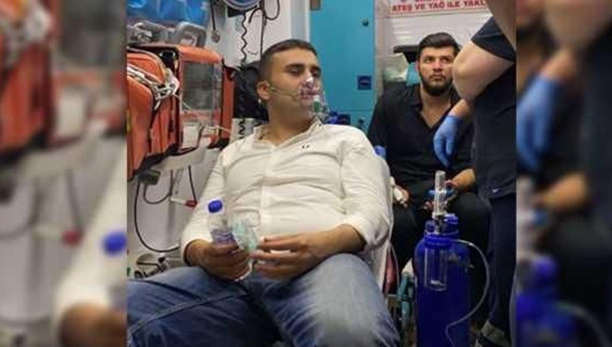 Yangın söndürme çalışmalarına katılan CZN Burak'a tepki
