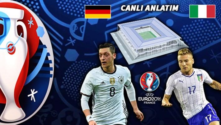 Almanya-İtalya maçı hangi kanalda?