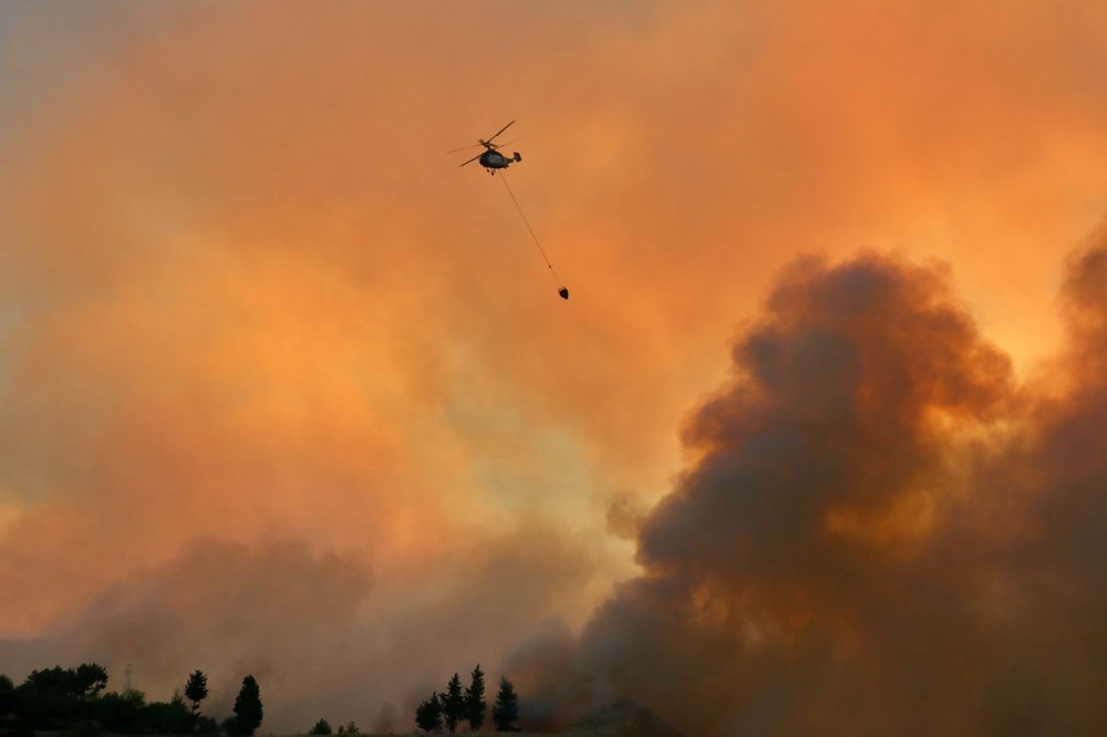 Adana'da orman yangını: 8 köy boşaltıldı - 3