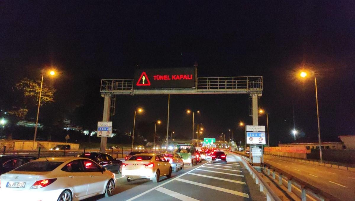 SON DAKİKA:Avrasya Tüneli'nde araç yangını