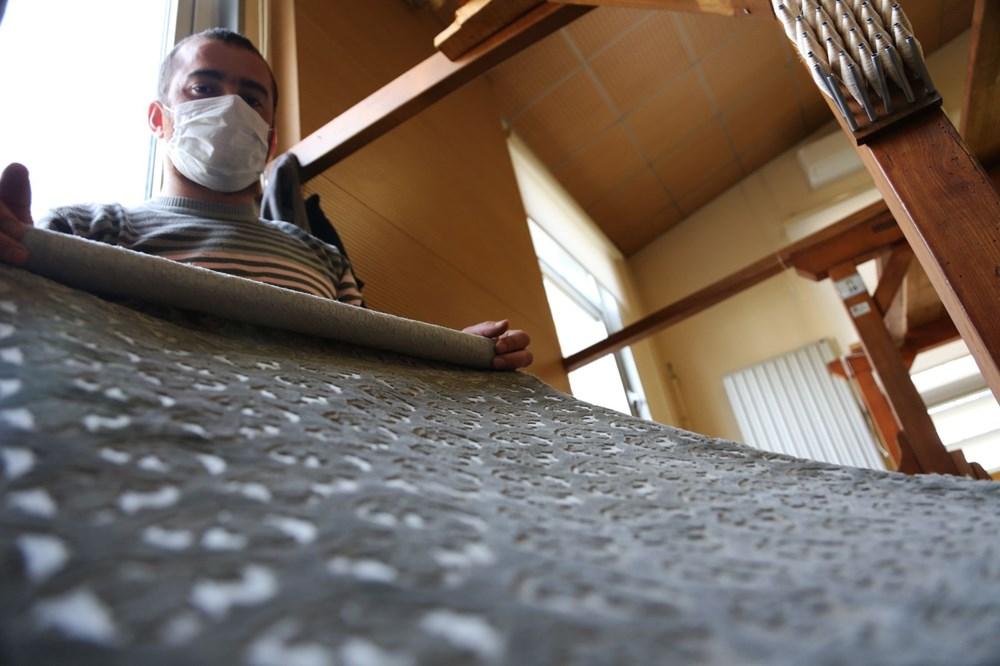178 yıllık Osmanlı yadigarı fabrikada, Topkapı Sarayı'nın has oda halısı dokunuyor - 6