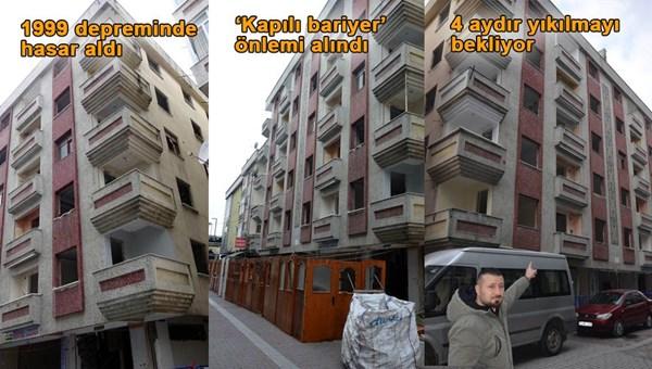 İstanbul Avcılar'da 4 ay önce mühürlenen bina hala yıkılmadı
