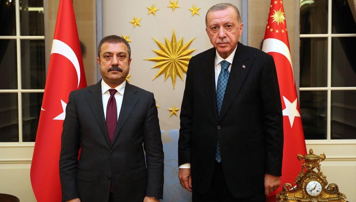SON DAKİKA:Cumhurbaşkanı Erdoğan MB Başkanı Kavcıoğlu ile görüştü