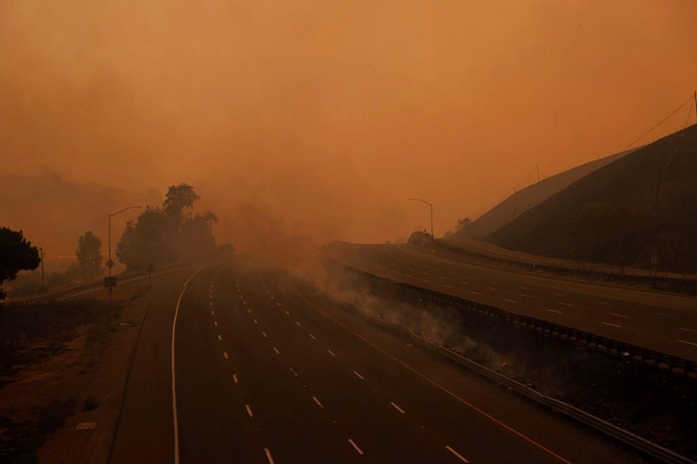 California'da yangınlar kontrol altına alınamadı: Bir helikopter düştü - 14