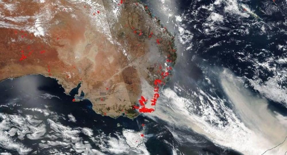 NASA Trump'ın 'büyük felaket' ilan ettiği yangınların uydu görüntülerini yayınladı - 42