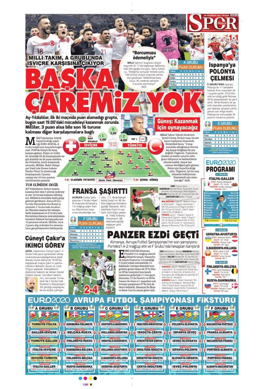 Günün spor manşetleri (20 Haziran 2021) - 19